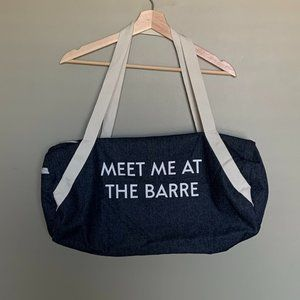 Private Party Meet Me At The Barre denim gym bag